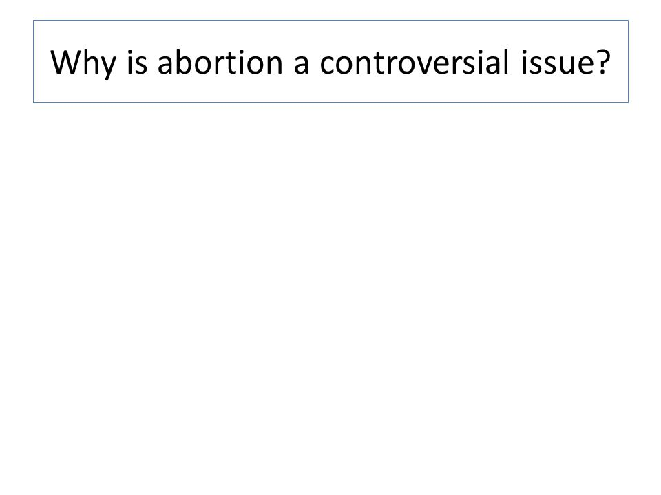 Why is abortion a controversial issue