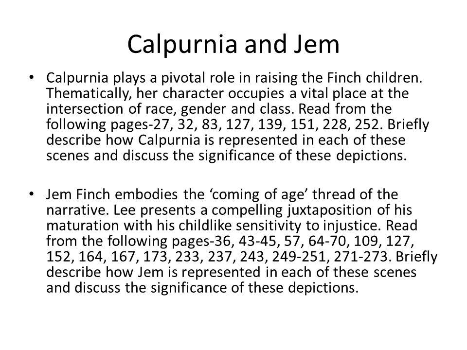 Calpurnia and Jem