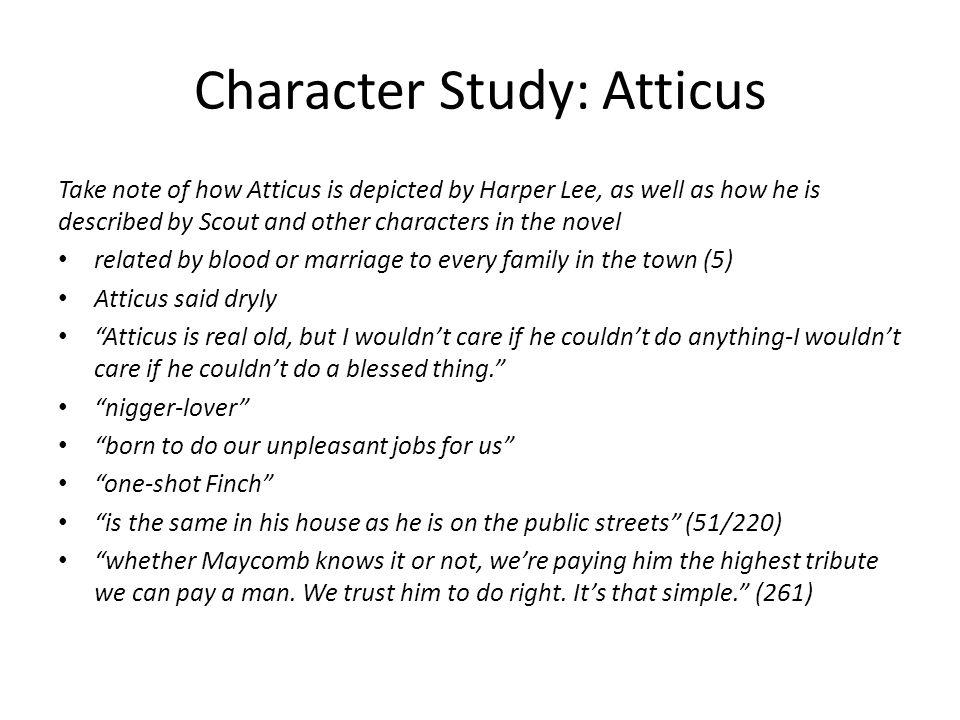 Character Study: Atticus