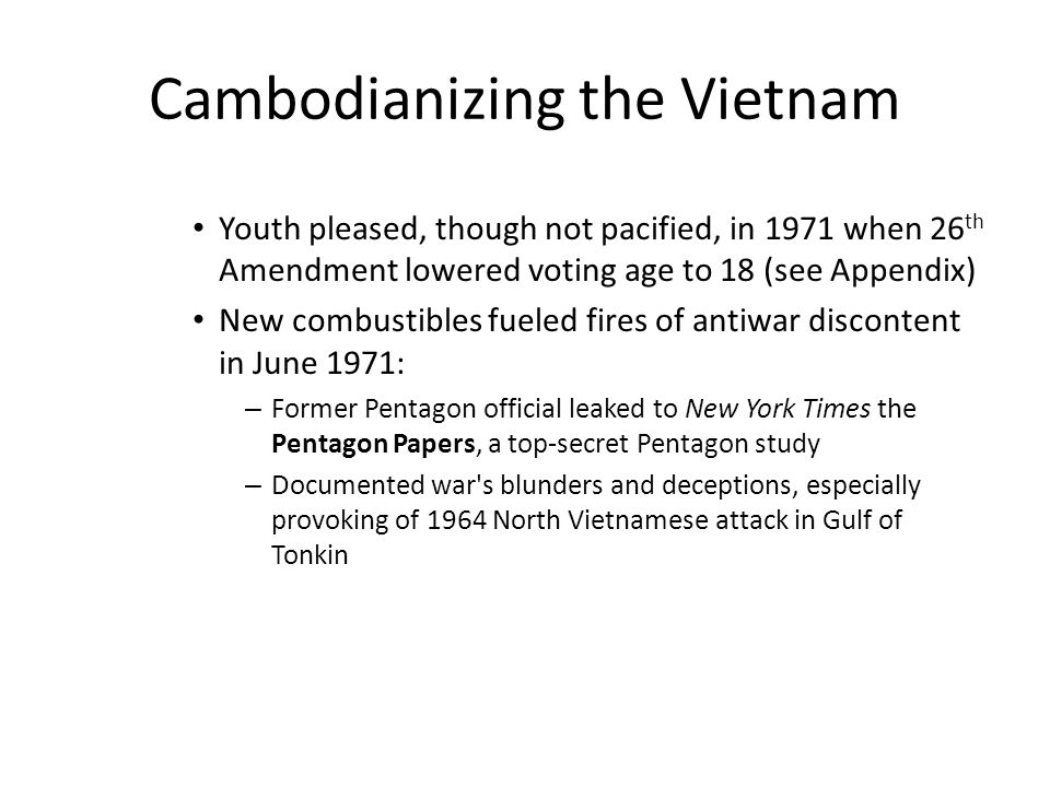 Cambodianizing the Vietnam