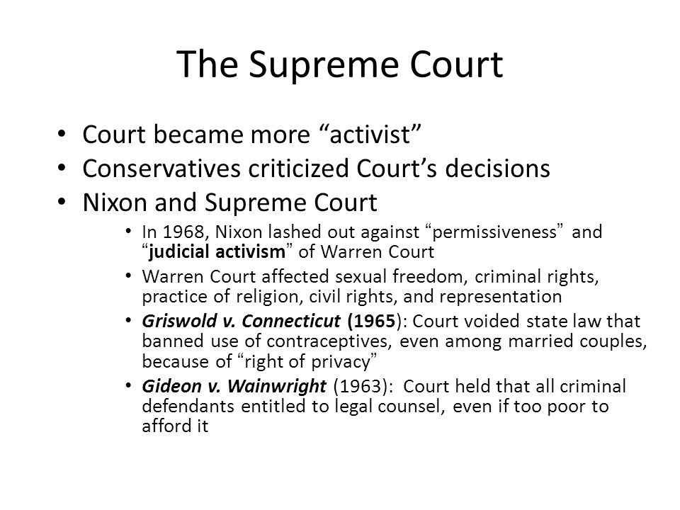 The Supreme Court Court became more activist