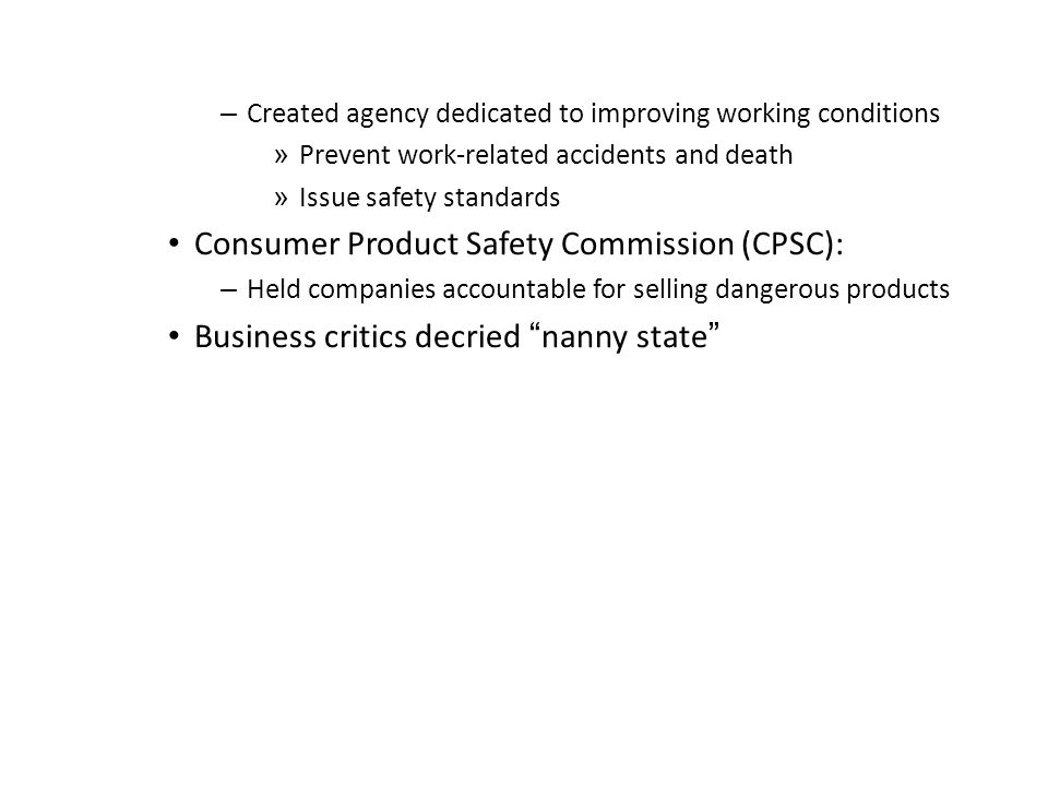 Consumer Product Safety Commission (CPSC):