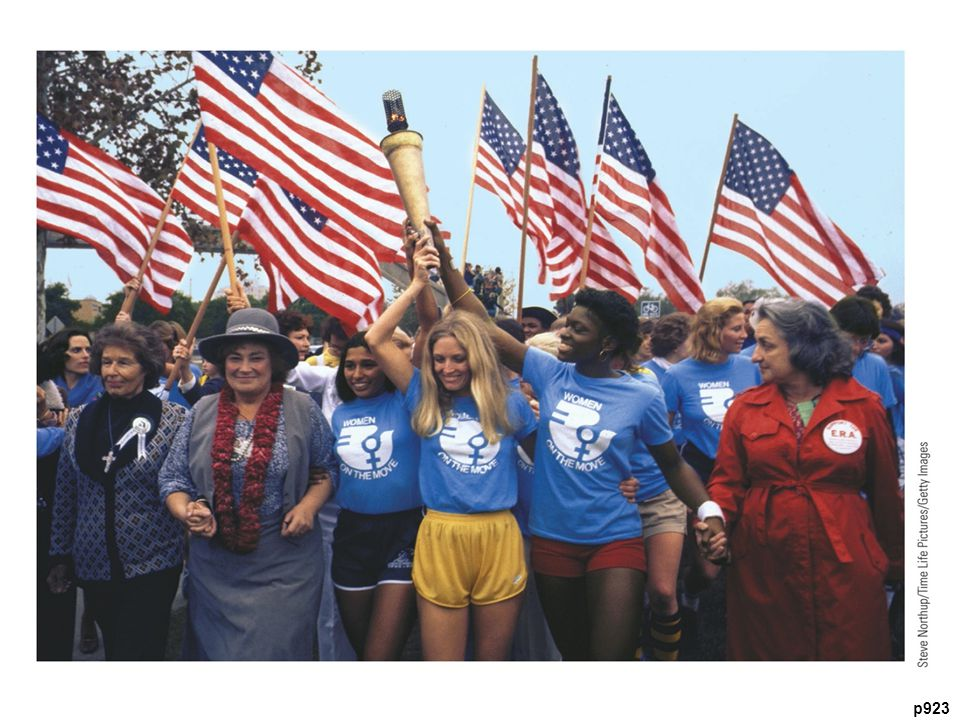 Marching for Women's Rights, 1977 A multiethnic and multiracial group of women,
