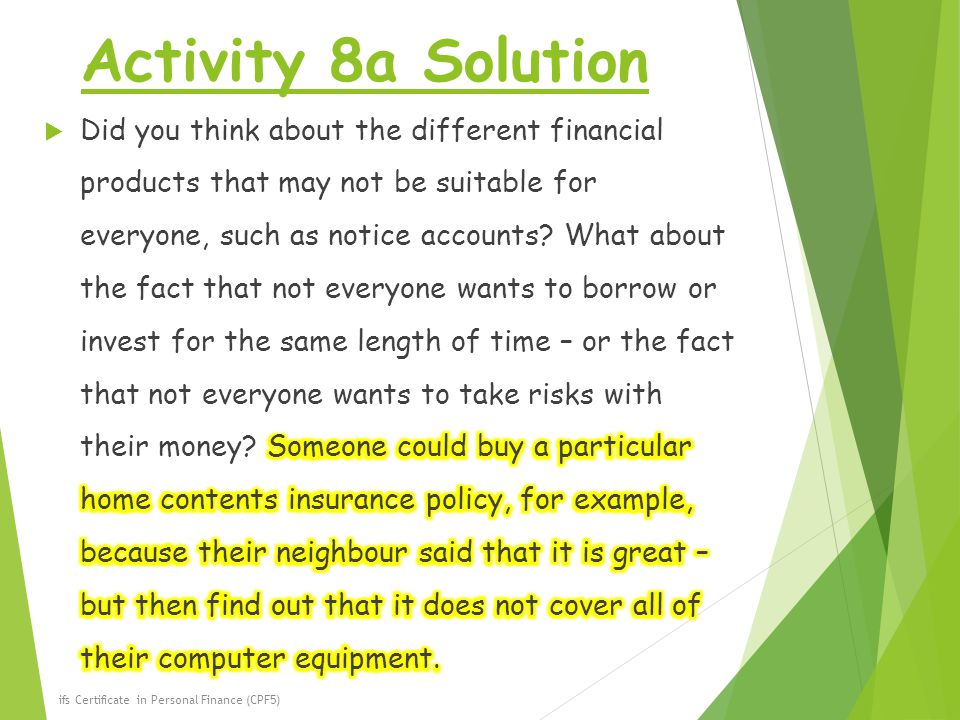 Activity 8a Solution