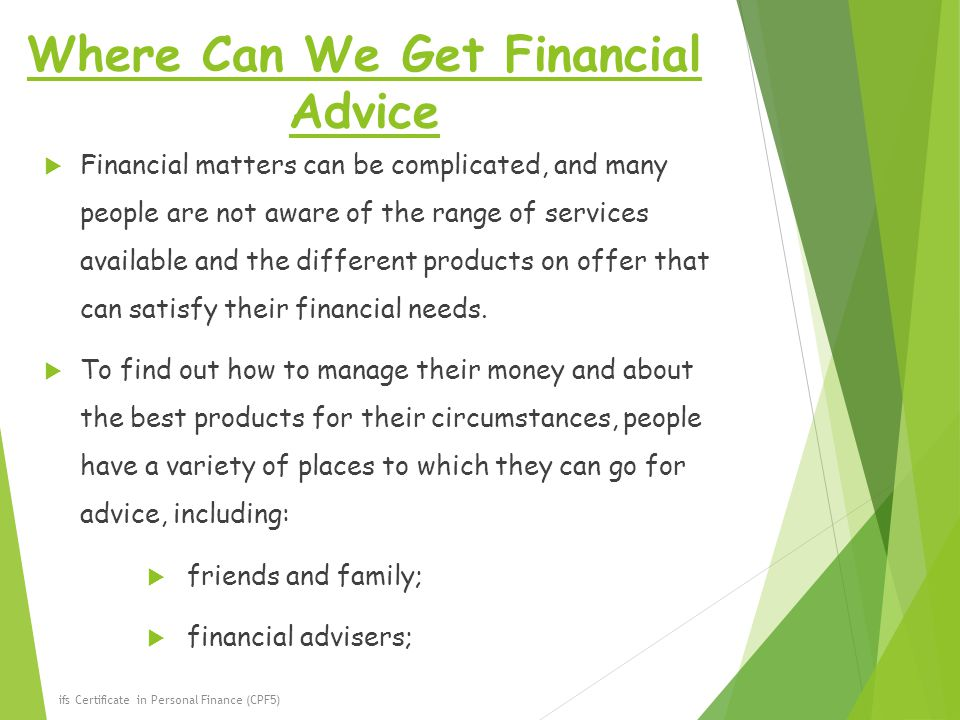 Where Can We Get Financial Advice