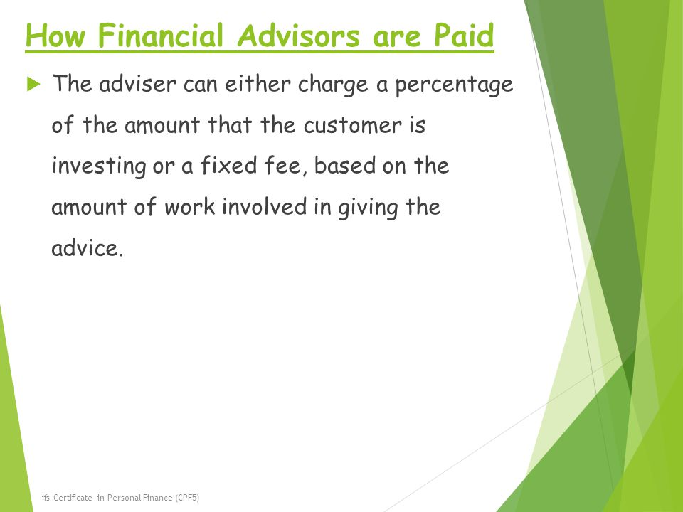 How Financial Advisors are Paid