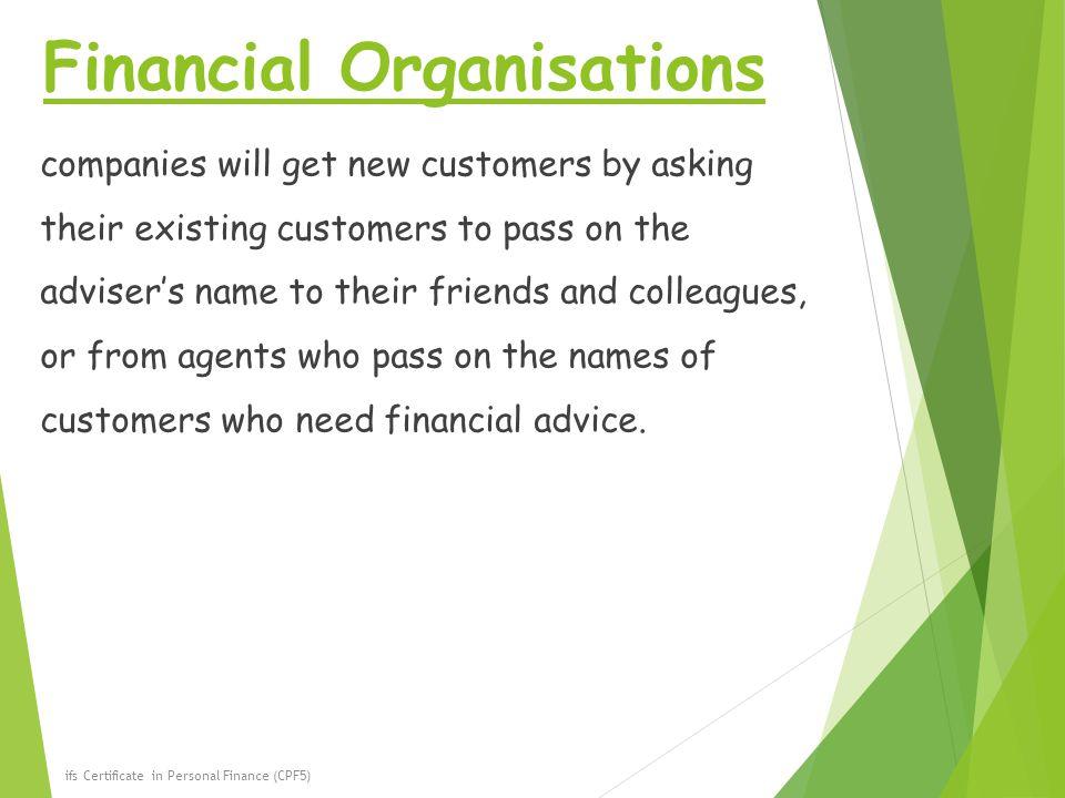 Financial Organisations