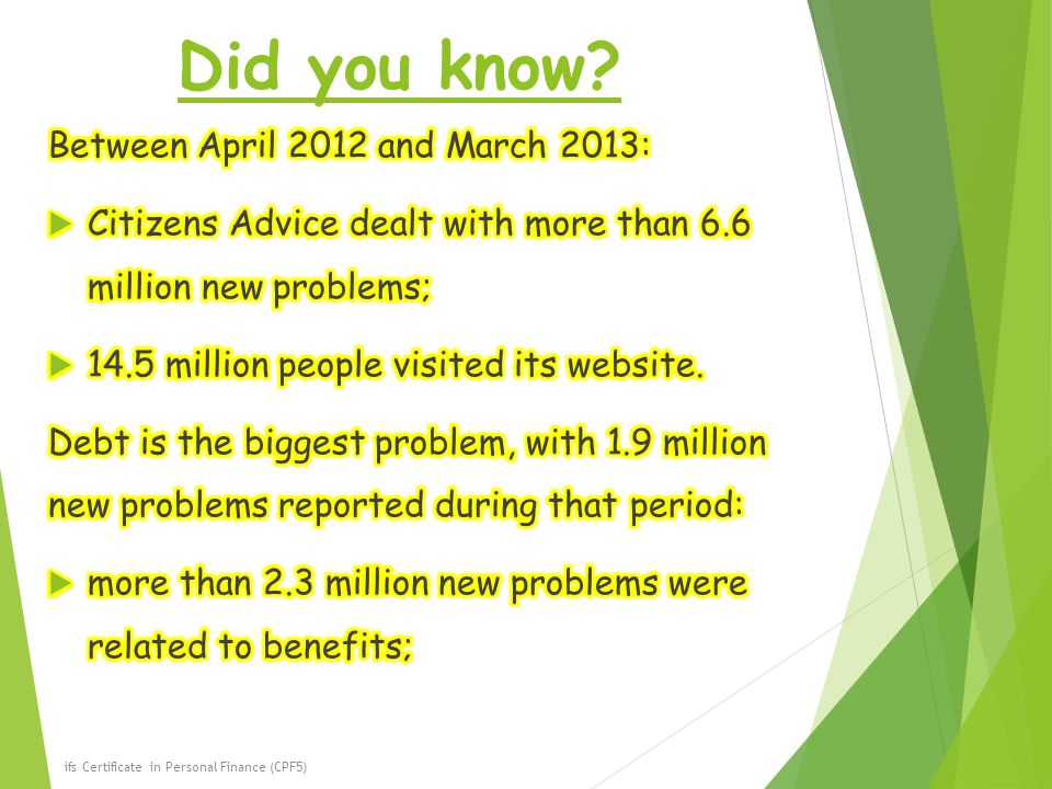 Did you know Between April 2012 and March 2013:
