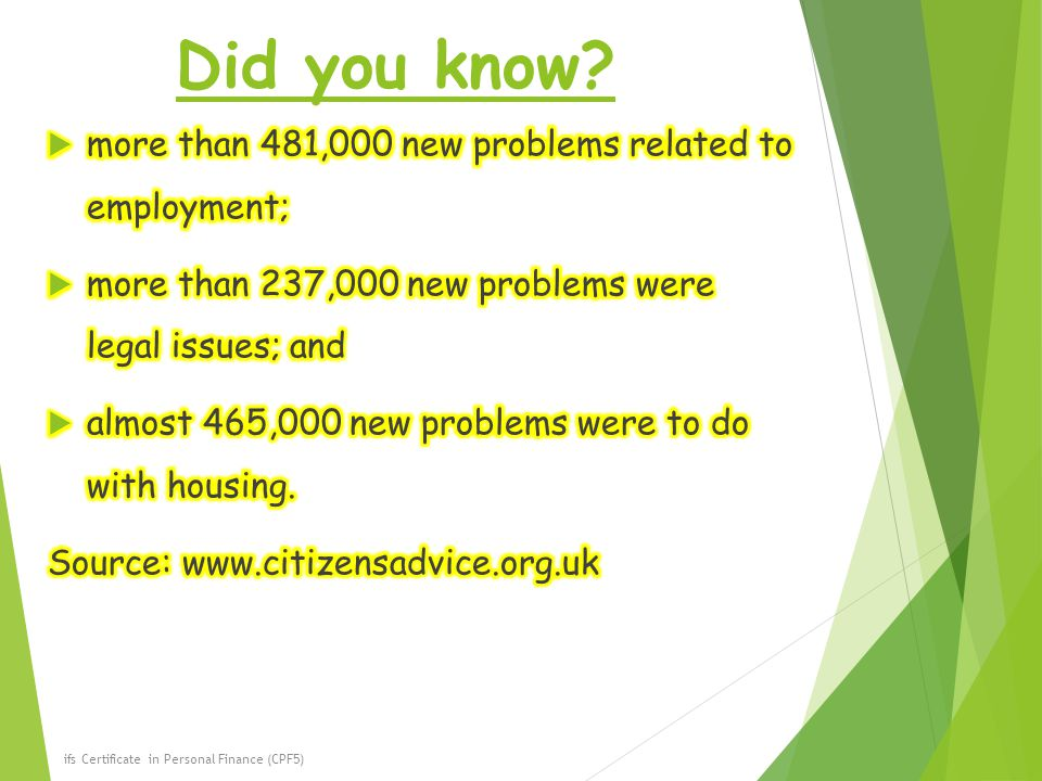 Did you know more than 481,000 new problems related to employment;
