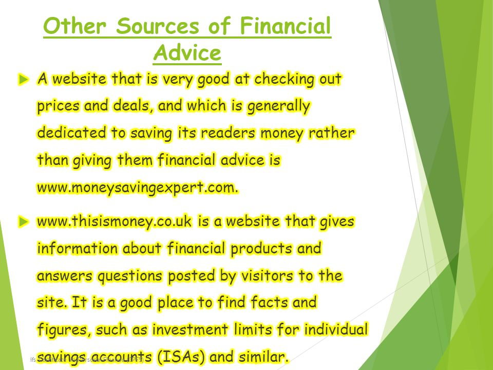 Other Sources of Financial Advice