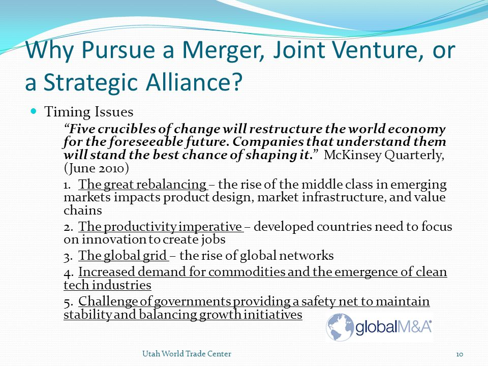 Why Pursue a Merger, Joint Venture, or a Strategic Alliance
