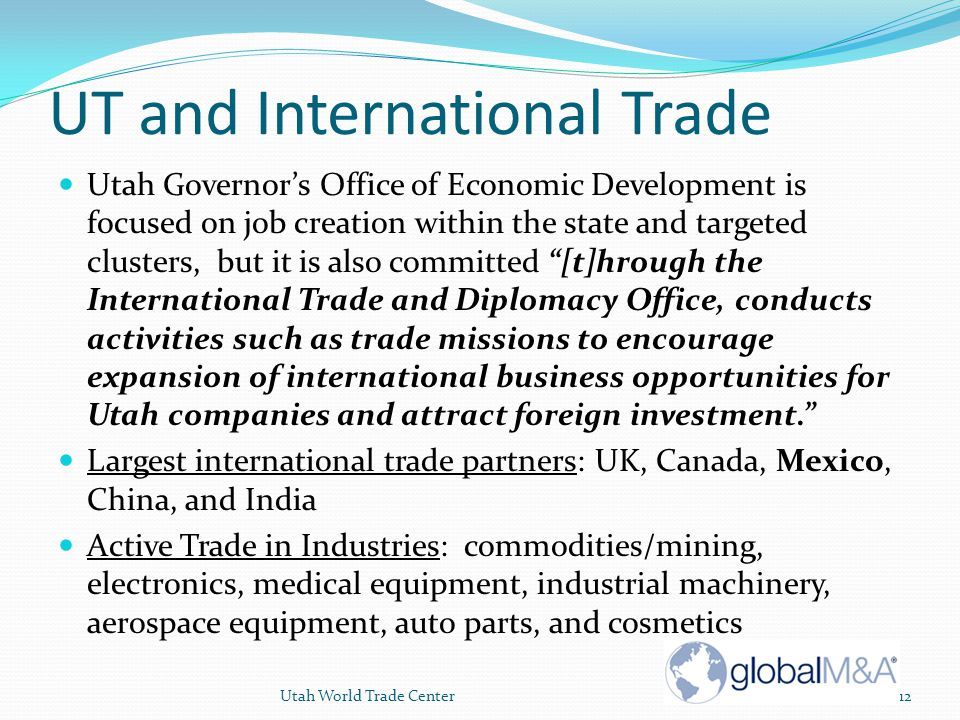 UT and International Trade
