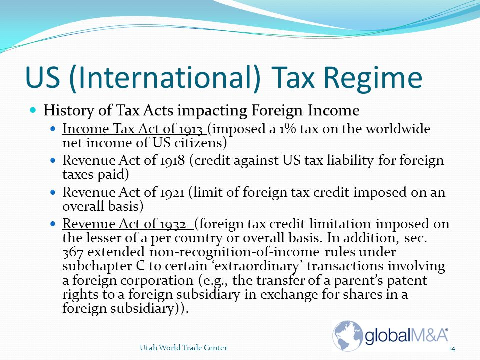US (International) Tax Regime