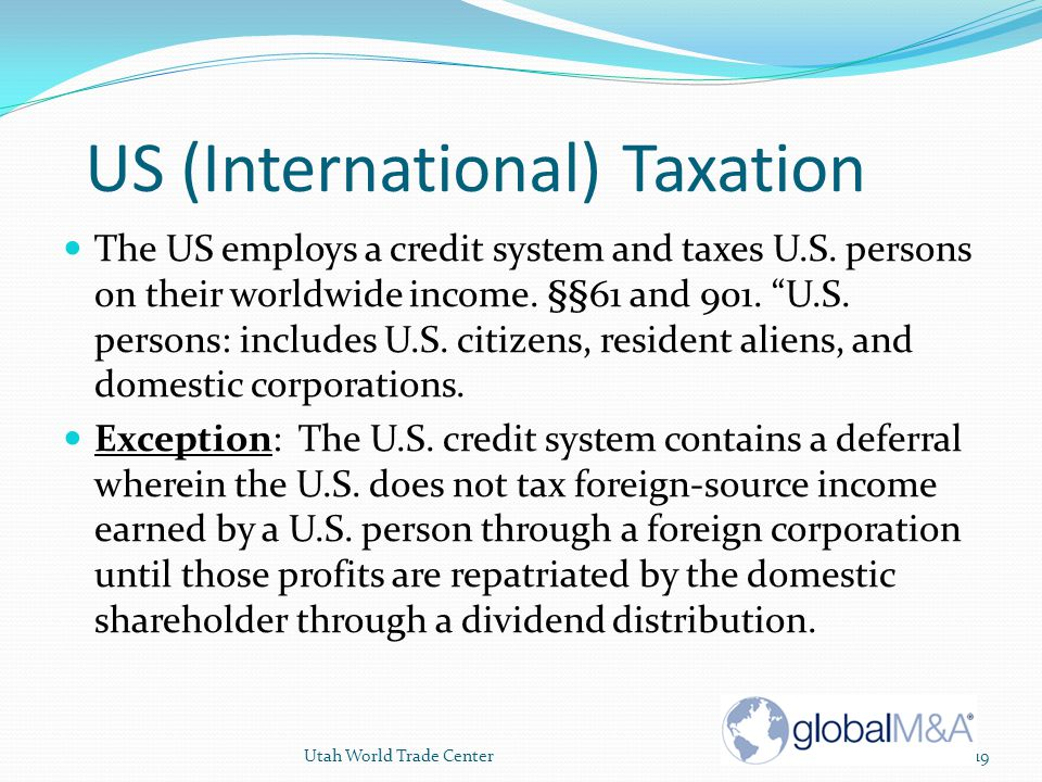 US (International) Taxation