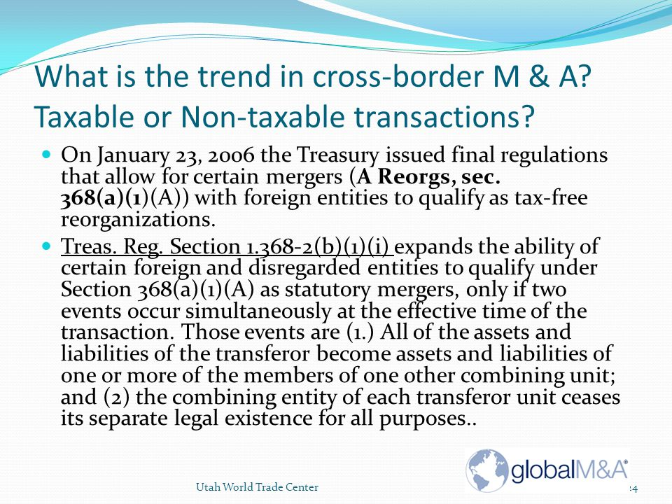 What is the trend in cross-border M & A