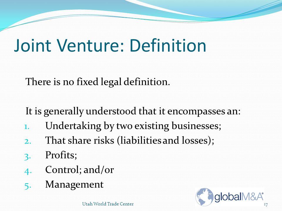 Joint Venture: Definition