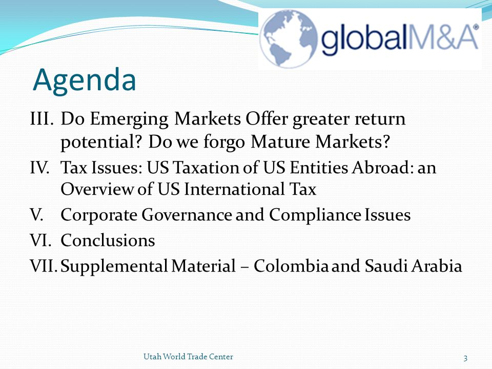 Agenda III. Do Emerging Markets Offer greater return potential Do we forgo Mature Markets