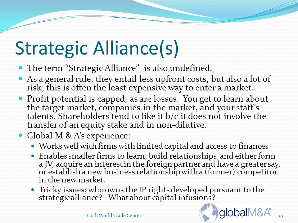 Strategic Alliance(s)