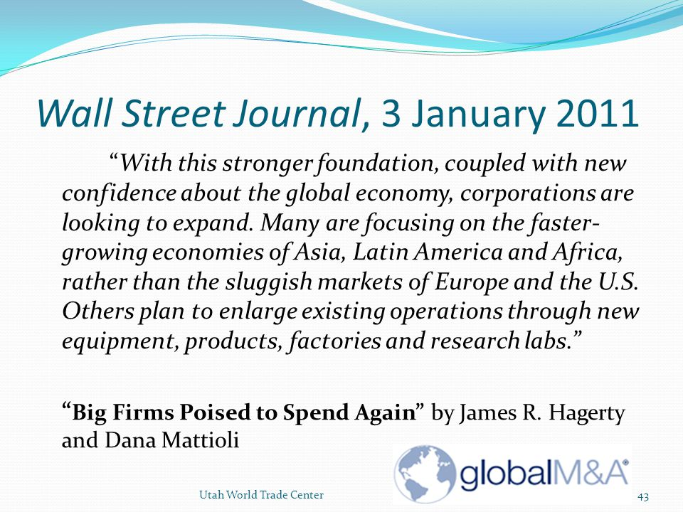 Wall Street Journal, 3 January 2011
