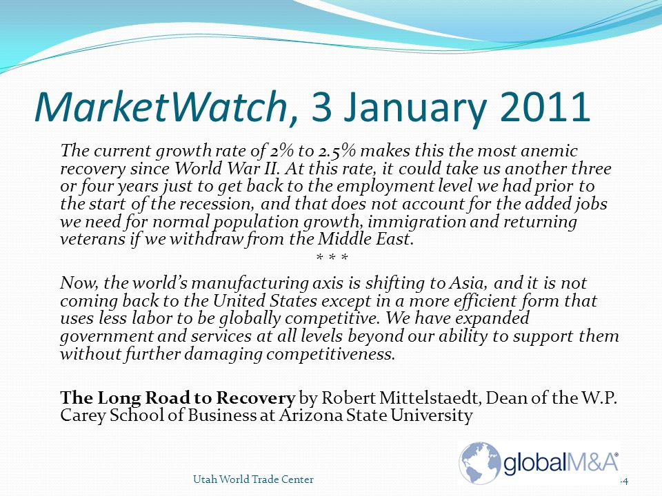 MarketWatch, 3 January 2011