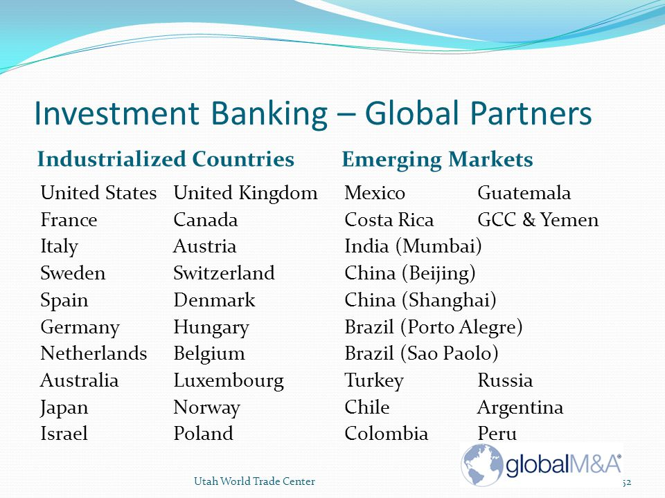 Investment Banking – Global Partners