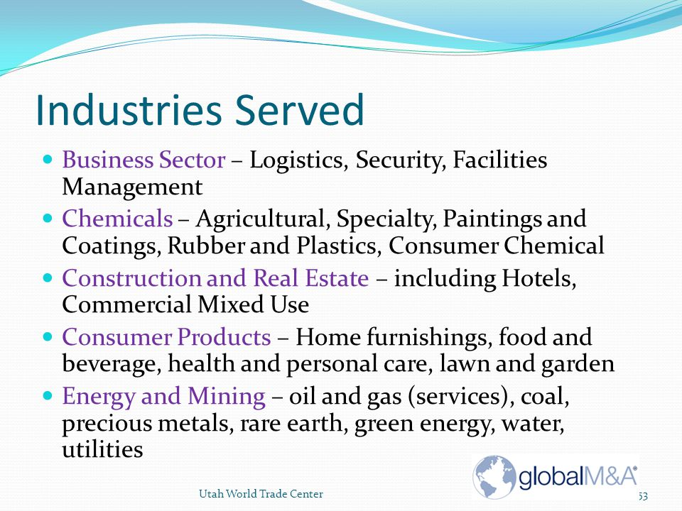 Industries Served Business Sector – Logistics, Security, Facilities Management.