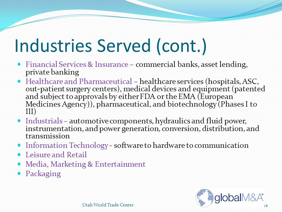 Industries Served (cont.)