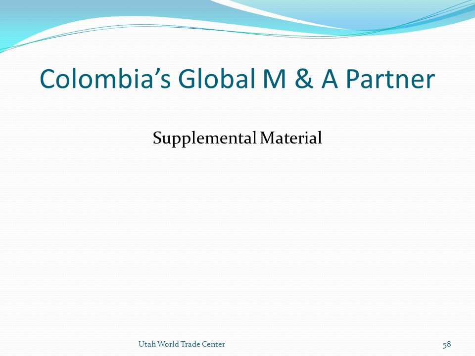 Colombia's Global M & A Partner
