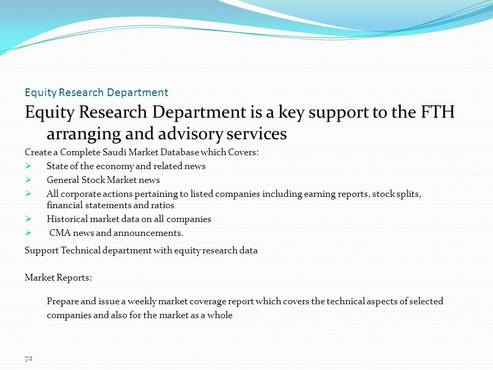 Equity Research Department