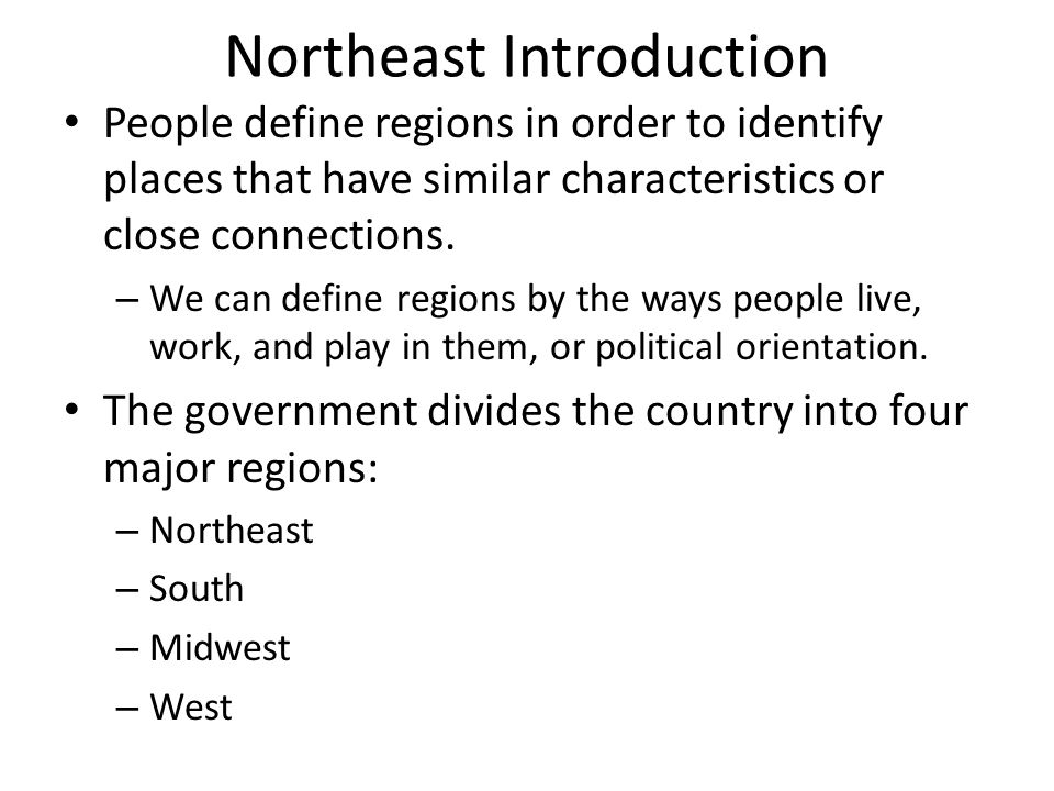 Northeast Introduction