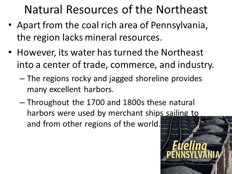 Natural Resources of the Northeast