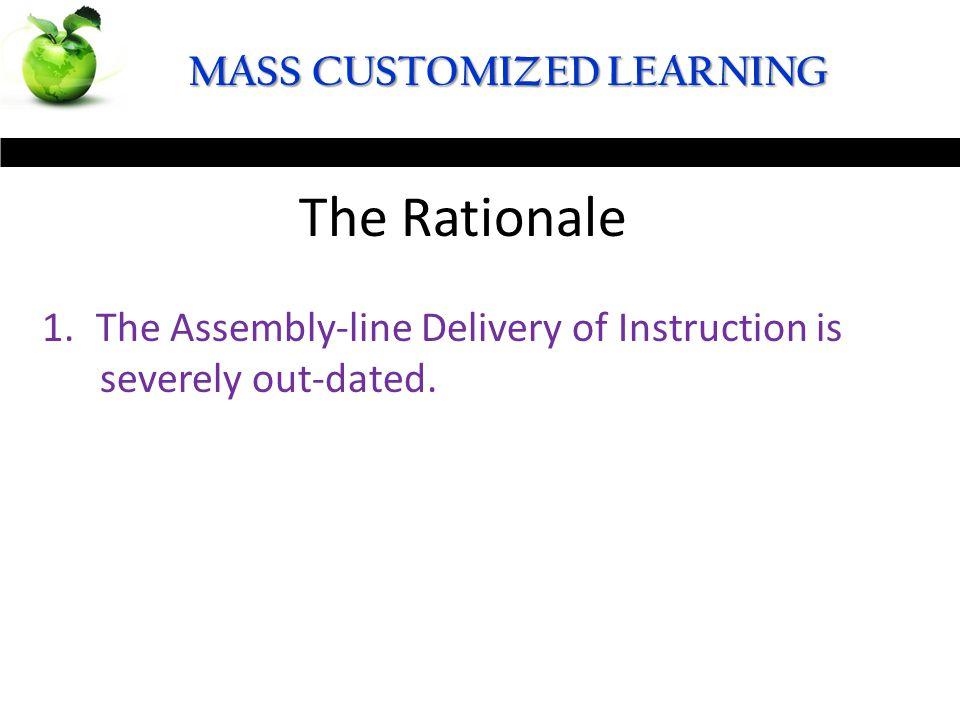 MASS CUSTOMIZED LEARNING