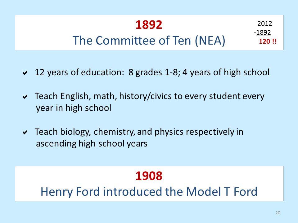 The Committee of Ten (NEA)