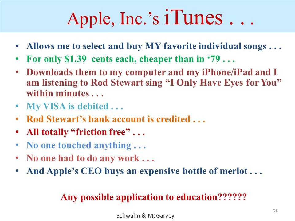 Any possible application to education