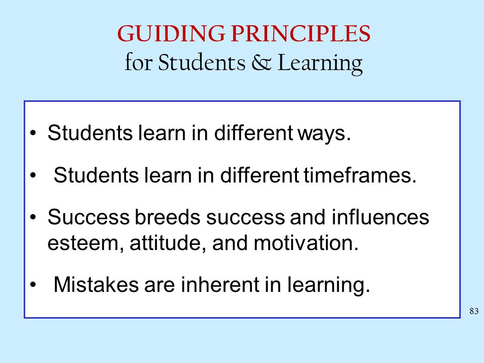 Some Generalizations from the Research on Learning