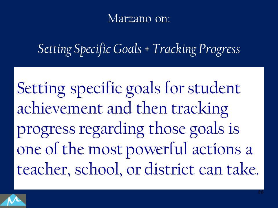 Setting Specific Goals + Tracking Progress