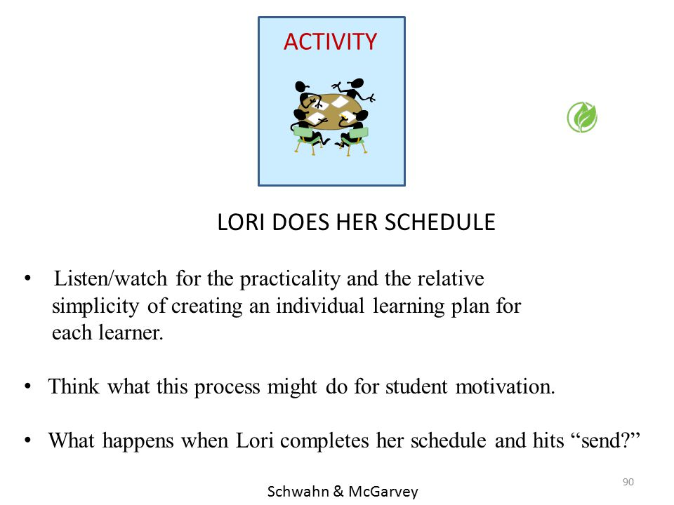 ACTIVITY LORI DOES HER SCHEDULE