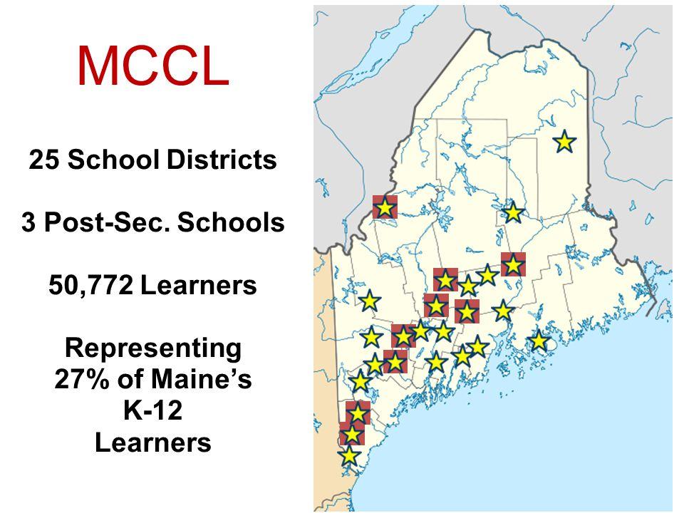 MCCL 25 School Districts 3 Post-Sec. Schools 50,772 Learners