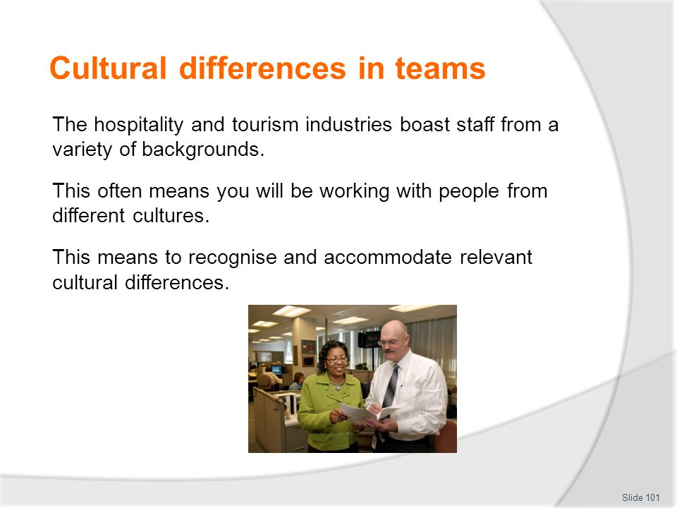 Cultural differences in teams