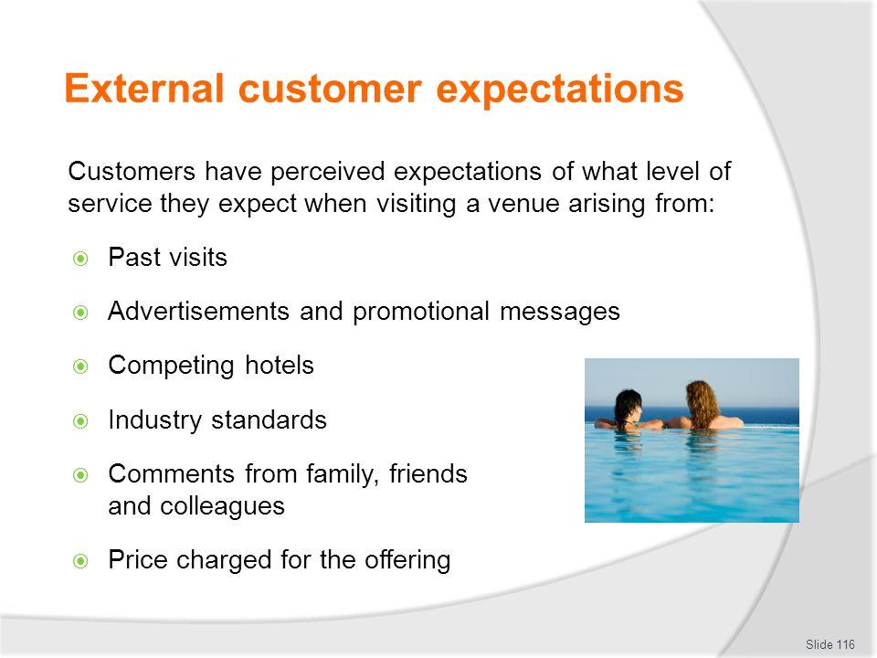 External customer expectations