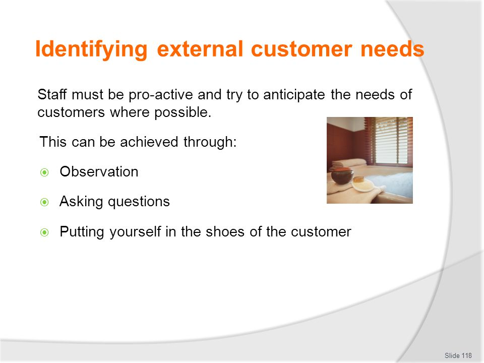 Identifying external customer needs