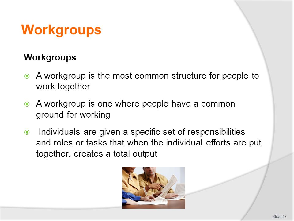 Workgroups Workgroups