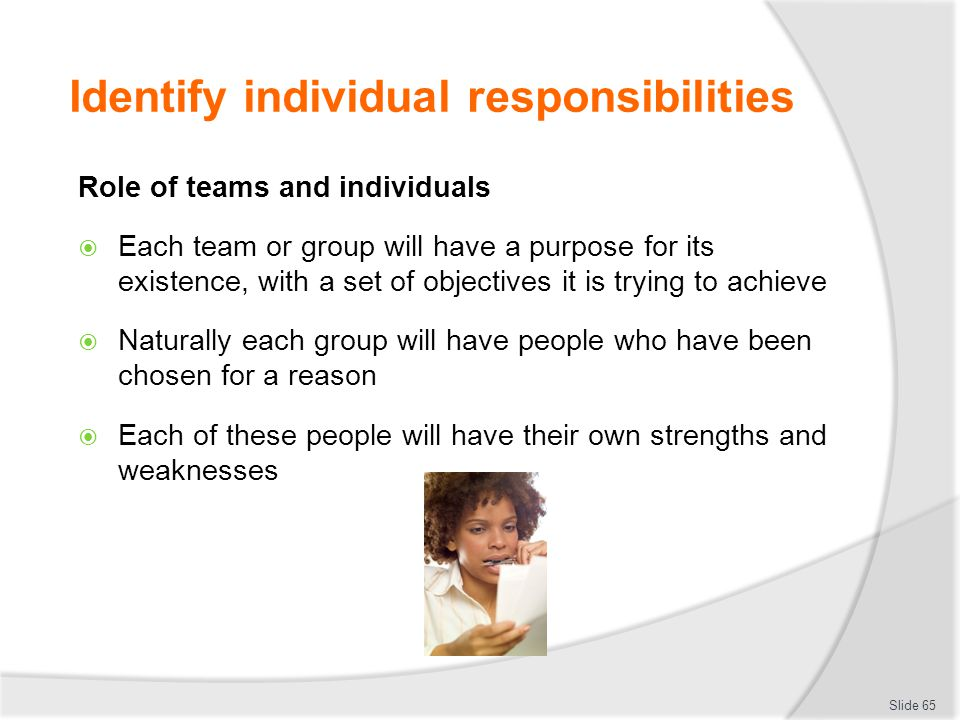 identifying team members roles in an organization Creating a team charter is a great first activity for your newly-forming team why it helps build team cohesion and trust, gets you off to a quick start, and is a great activity to get everyone — team members and management — onto the same page.