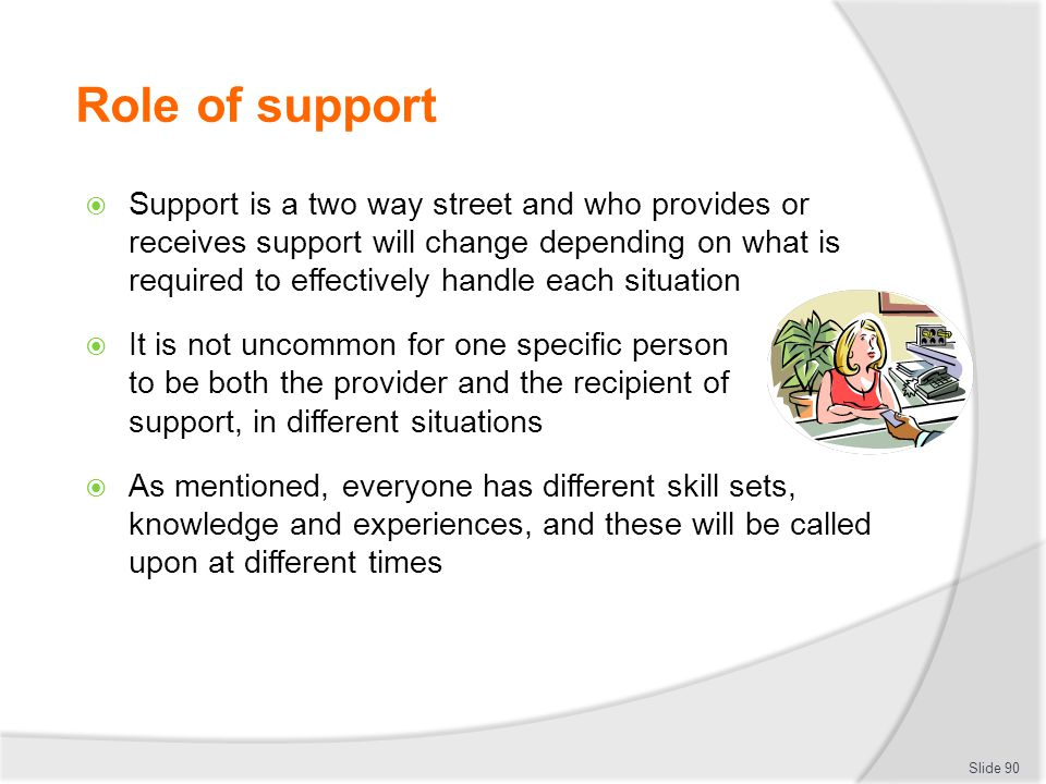 Role of support