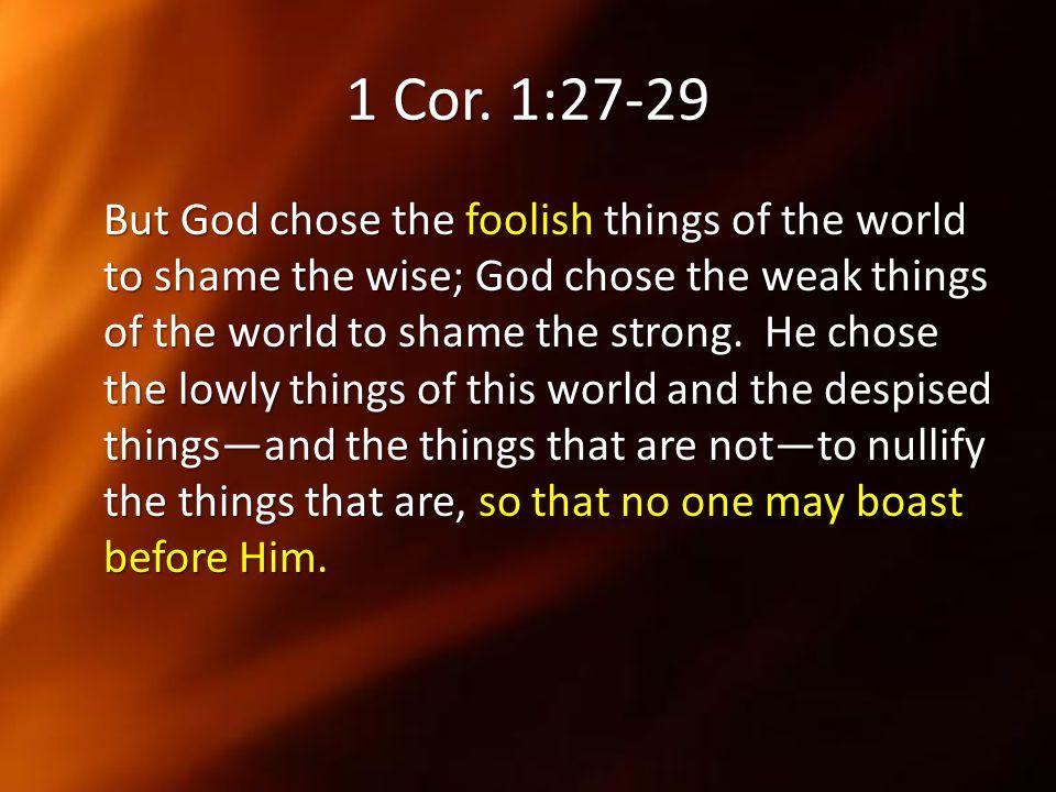 1 Cor. 1:27-29