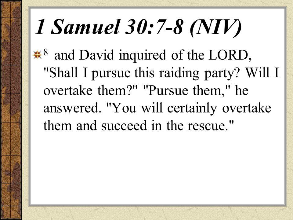 1 Samuel 30:7-8 (NIV)