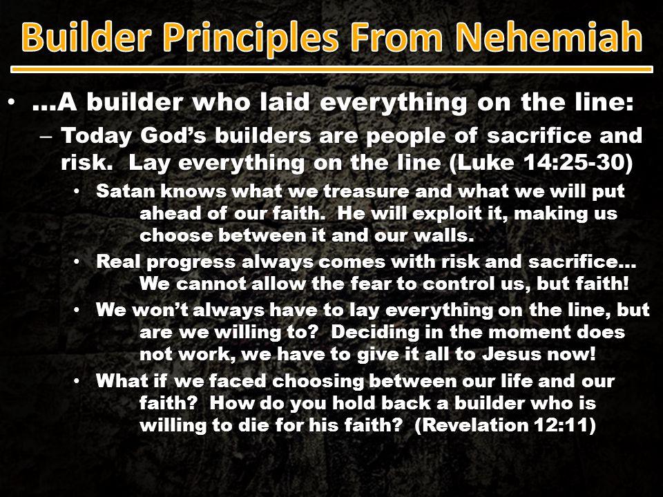 Builder Principles From Nehemiah