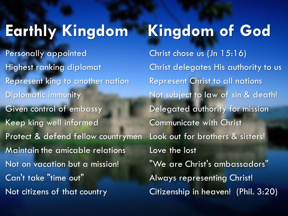 Earthly Kingdom Kingdom of God