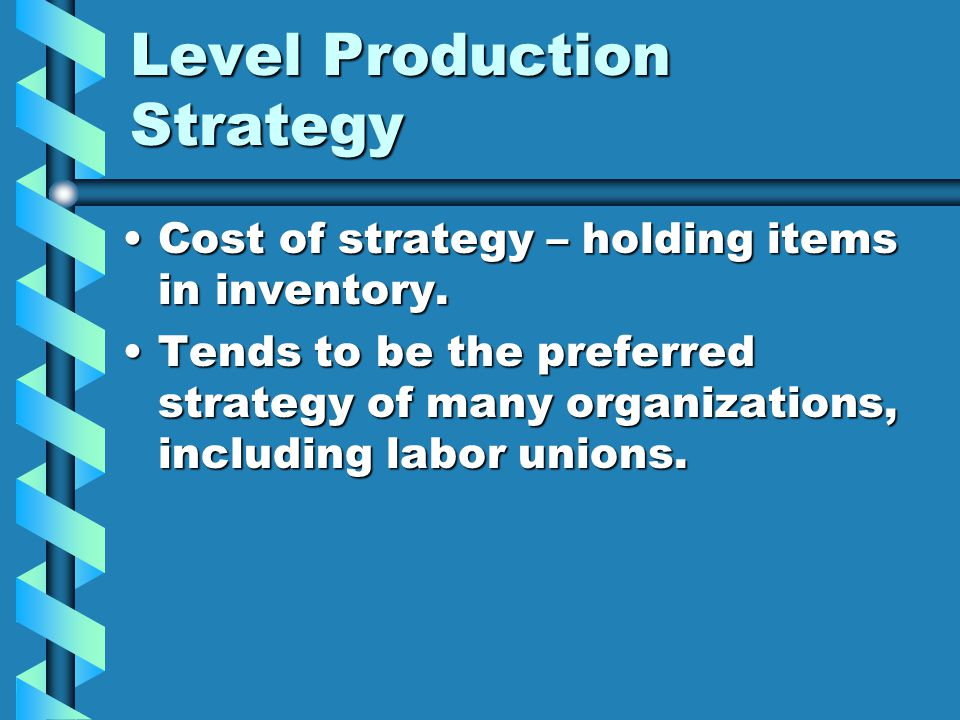 Level Production Strategy