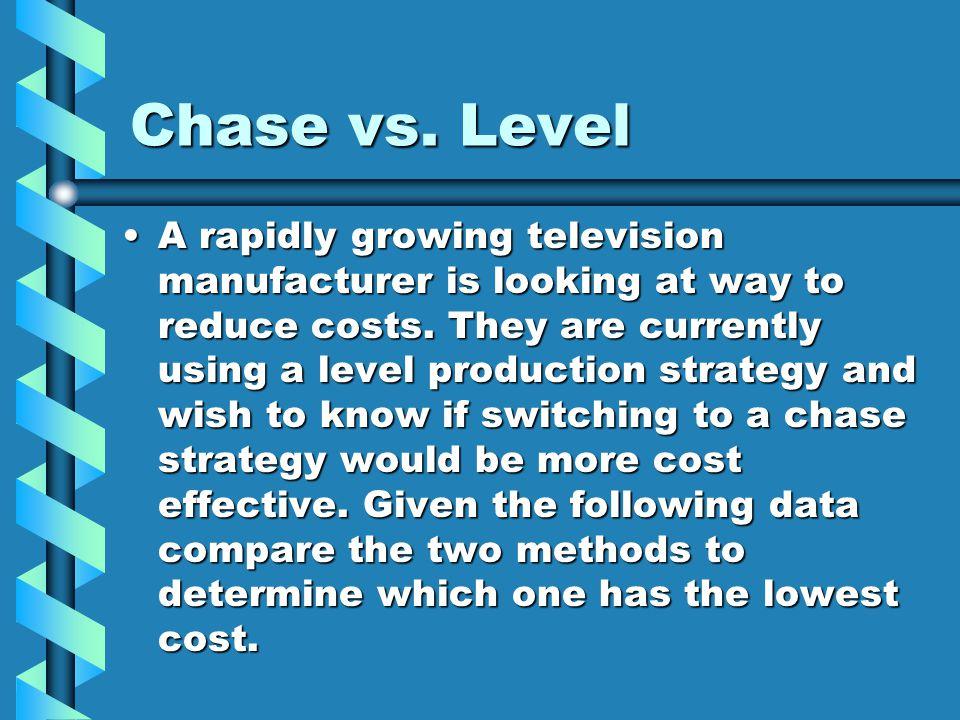 Chase vs. Level